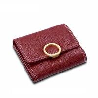 Lady Snap Fastener Short Clutch Wallet Vintage Women Luxury Brand Wallet Fashion Small Female Purse