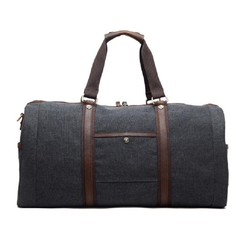 M254 nowe płótno skóra mężczyzn torby podróżne do przenoszenia torby podróżne męskie torby płócienne torebka torba podróżna duża torba weekendowa z dnia na dzień w Torby podróżne od Bagaże i torby na  Grupa 2