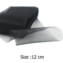 "[IuBuFiGo] 4.7 ""12 cm Plain Crin Paardenhaar Mesh Organzastof Hoedenzaak Triming Rigelin 100 yard/lot #31 kleur(China)"