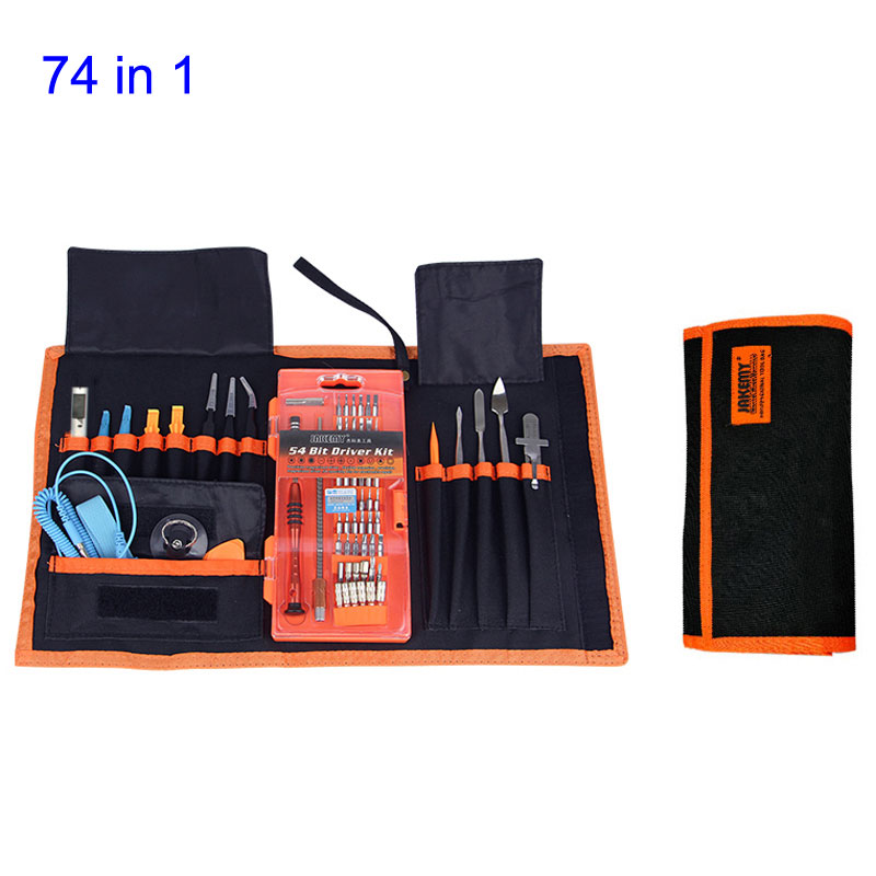 купить 74 in 1 Portable Precision Screwdriver Set/Opening Tool/Knife/Tweezers Mobile Phone Computer PC Repair Tools Kit Outillage недорого