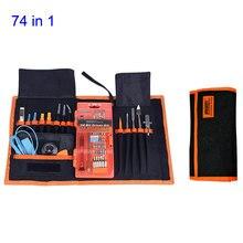 цена на 74 in 1 Professional Repair Tools Kit Screwdriver Set/Opening Tool/Knife/Ruler/Tweezers Maintenance Ferramentas Herramientas