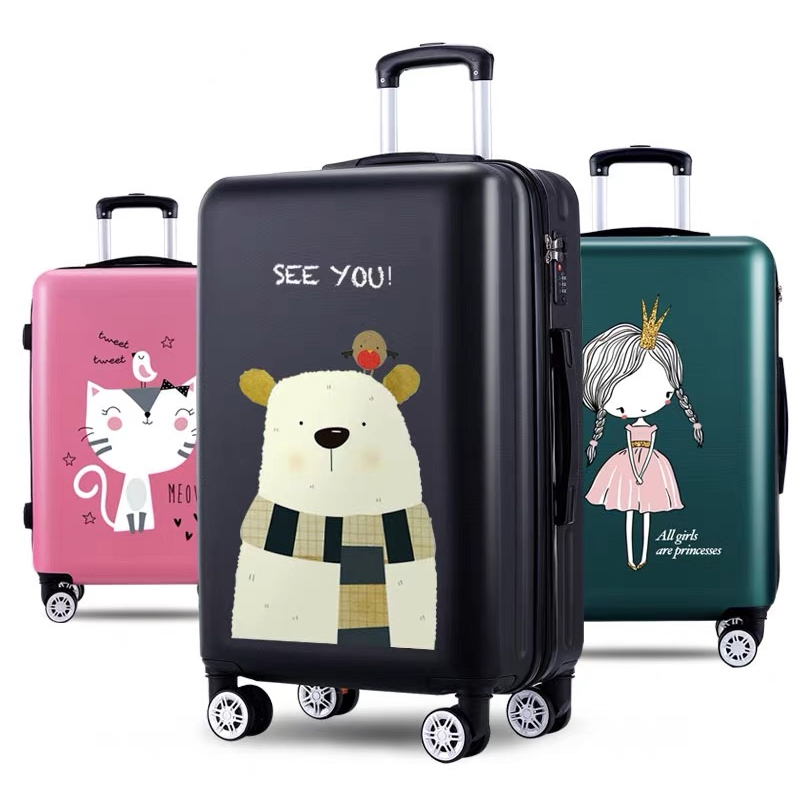 New Women Lovely high quality 20 22 24 26 Inch Rolling Luggage bag girls Spinner brand