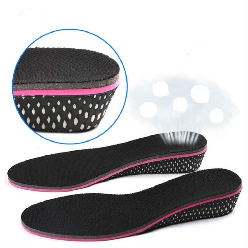 Height Increase Insole Memory Foam Insole Shock Absorbing Insoles Breathable Shoe Pad Palmilha Altura Semelle Chaussure Zooltjes