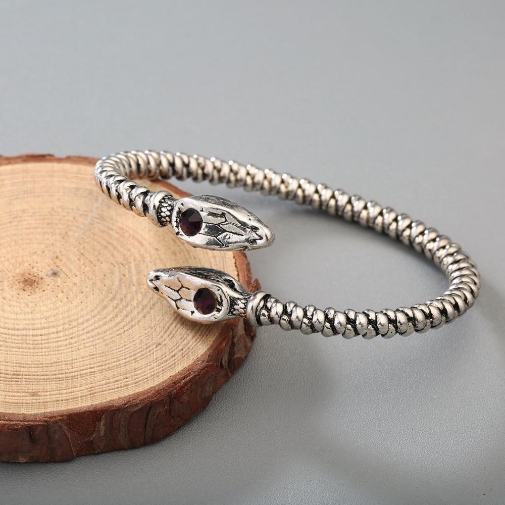 Bracelet Viking tête de mort serpent 4