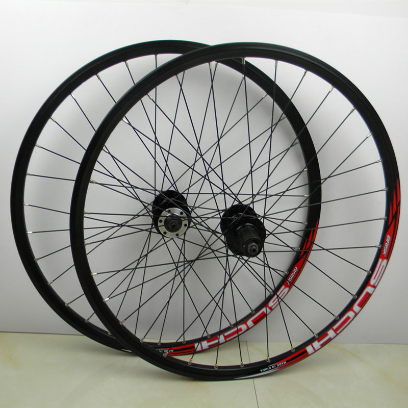 2017  Limited  Mtb Wheels Disc Brake 26  high quality Alloy  32 Hole Cassette Wheelset 26 Inch Wheels Bicycle Rim 8 9 10 Speed miejun26 mountain bike bearing aluminum alloy wheel cassette rim 26 inch alloy wheel disc brake set cassette hub