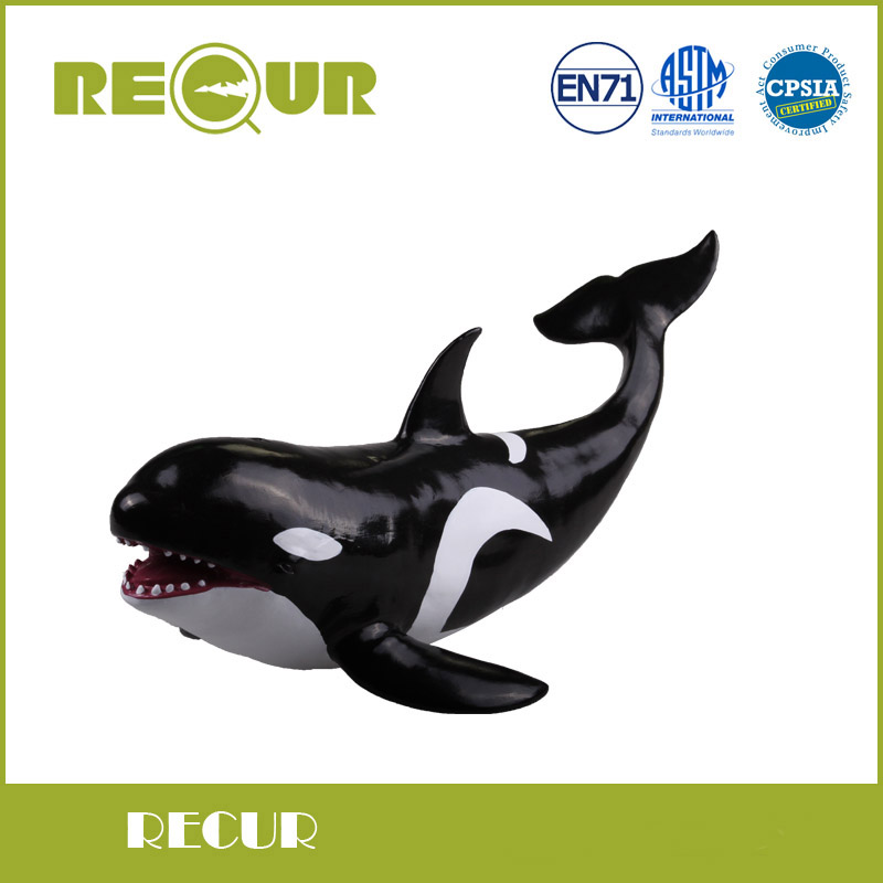 Recur Toys Killer Whale Sea Life Model Highly Detailed PVC Hand Painted Animal Figures Soft Animal Toys For Children sea life liopleurodon dinosaur toy soft pvc action figure hand painted animal model collection classic toys for children gift