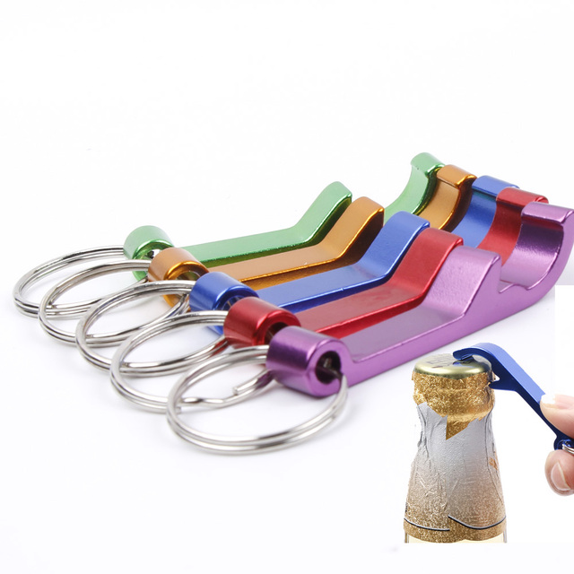 Portable Bottle Opener with Key Ring