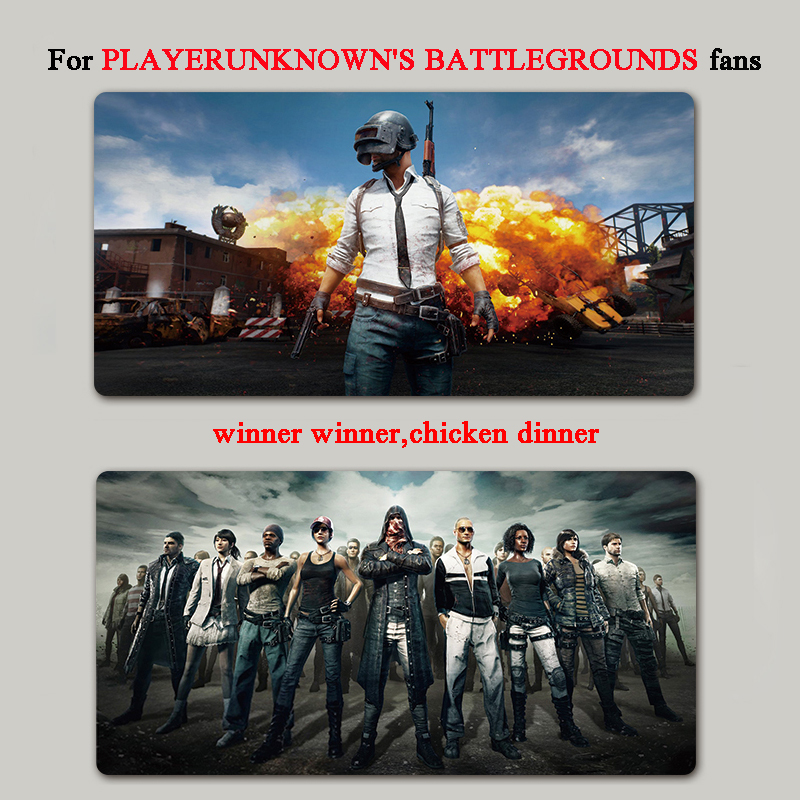 Hight Quality Newest Fashion 800mm*400mm Super Large Gaming Mouse Locking Edge Pad For PLAYERUNKNOWNS BATTLEGROUNDS FANS ...