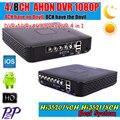 AHDM/N DVR 4 Каналов 8 Каналов CCTV AHD DVR AHD-М Hybrid DVR/1080 P 4in1 NVR Видеорегистратор Для AHD Камеры Ip-камера Аналоговые камера
