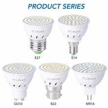 GU10 Led Lamp E27 Spot Light Bulb 220V Lampada Led E14 MR16 Led Spotlight 4W 6W 8W Kitchen Home Bulb 48 60 80leds Ampul B22 230V стоимость