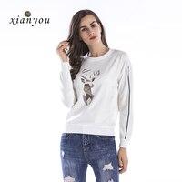 Xian You Hoodies Women Long Sleeve Womens Loose Hoodie Sweatshirt Clothing Ladies Womens Hoodie Casual Sweatshirts