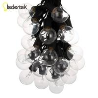 25Ft Глобусы огни строки с 25 G40 лампы-Винтаж Патио Сад свет строка для деко, наружное освещение строка для рождественской вечеринки