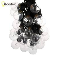 25Ft Globe String Lights With 25 G40 Bulbs Vintage Patio Garden Light String For Deco Outdoor
