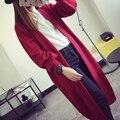 Европейский и Американский стиль кардиган свитер Тонкий весной и зимой моды длинный свитер вязать кардиган Женщин