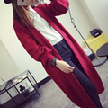 European and American style cardigan sweater Slim spring and winter fashion long sweater knit cardigan Women