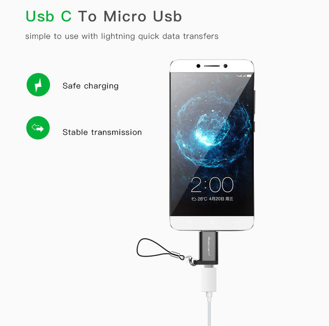 Adapter USB Type-C Micro USB Converter Cable Type C Adapter USB 3.1  Support OTG For Xiaomi 4C /Huawei /HTC Oneplus LG Tablet 3