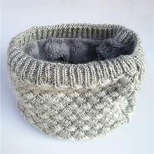 New Winter Scarf Child For Women Kanak-kanak Boys Scarf Thickened Wool Collar Scarves Girls Neck Scarf Cotton Unisex
