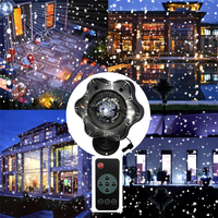Thrisdar Upgrade Moving Snowfall Laser Projector Lamps Snowflakes Outdoor LED Stage Light For Christmas Party Landscape