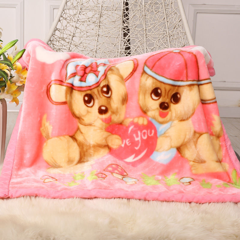 2019 New Children's Blanket For Newborn Baby Sleep Thicken Double Layer Baby Swaddle Comfortable Cartoon Bedding Blankets Quilts