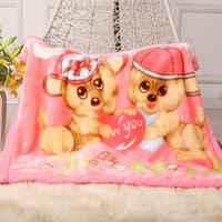 Manta gruesa para el sueño de bebé recién nacido, manta de doble capa para bebé, cómoda ropa de cama de dibujos animados, mantas edredones, 2020