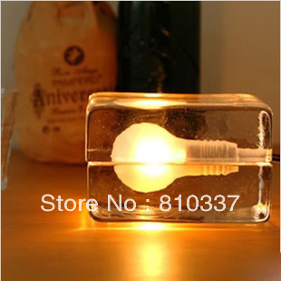 ФОТО NEW Creative design house bloc stockholm Crystal glass table lamp light lighting bedroom 12cm free shipping