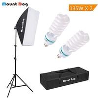 MountDog 1350W Photography Continuous Softbox Lighting Kit 20X28 Professional Photo Studio Equipment with 2pcs E27 Socket