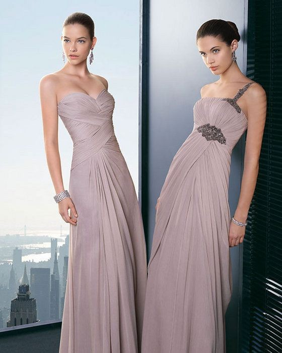 Cheap Sweetheart One Shoulder Chiffon Light Purple Long Beach   Bridesmaid     Dresses