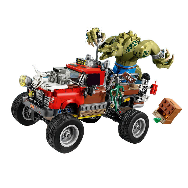 07051 Batman Movie Series The Killer Crocodile Tail-Gator 70907 Building Blocks Bricks Educational Toys For Children Gifts Lepin