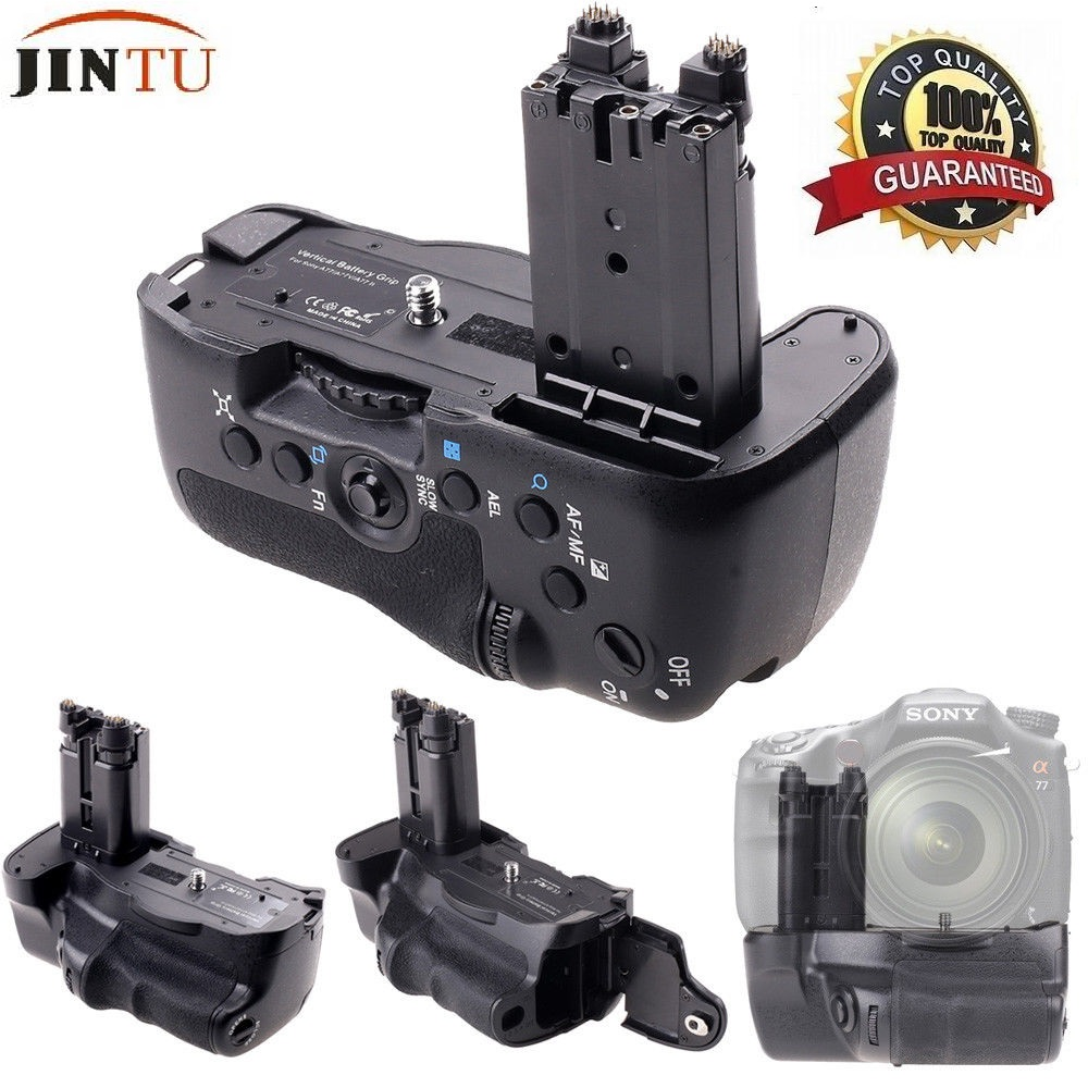 JINTU Top Power Battery Grip Pack For Sony STL- A77 A77V A77ii A99ii DSLR Camera Replacement VG-C77AM travor bg 3b replacement battery grip for sony a77 a77v