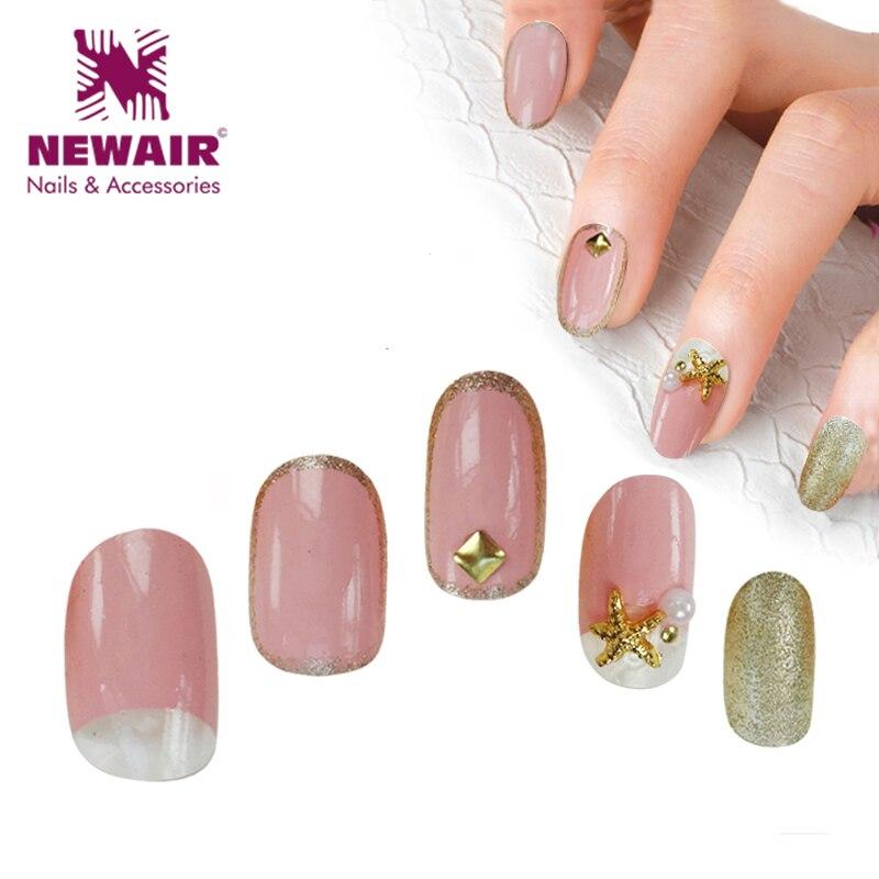 New Fashion Acrylic Nail tips Fake Nails Oval Short Artificial Nails ...