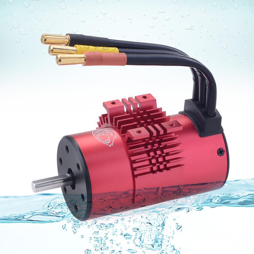 Image 2 - KK Waterproof Combo w/ 80A ESC 3665 1550KV 1800KV 2000KV 2300KV 2900KV 3500KV Brushless Motor for RC Car 1/10 RC Rock Crawler-in Parts & Accessories from Toys & Hobbies
