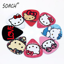 SOACH bass guitar paddle 0.46mm Thickness  /50pcs Acoustic guitarra  kitty cat ukulele Picks Musical instrument accessories pick