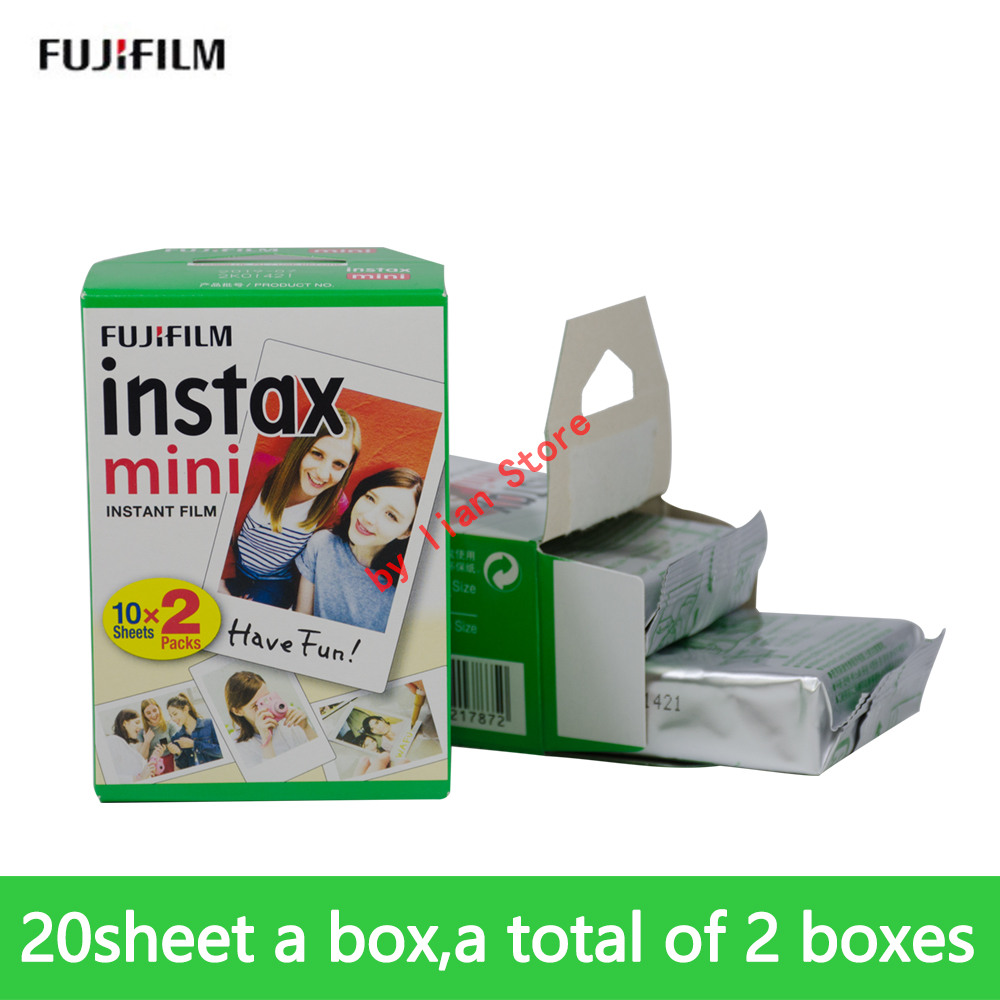 20/a box 40 Sheets White Fuji Instax Film Fujifilm Instax Mini 8 Film For Mini 8 9 50s 7s 90 25 Share SP-1 SP-2 Instant Cameras genuine 200pcs fuji fujifilm instax mini 8 film white edge for 8 7s 50s 90 25 instant cameras 2018 valid period