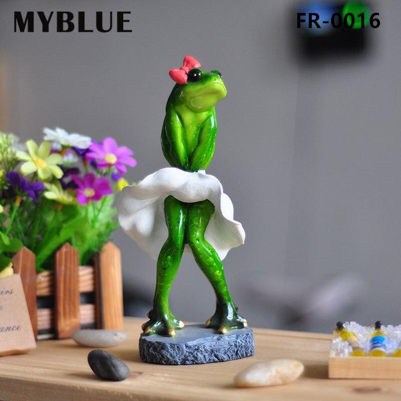 MYBLUE Kawaii Künstliche Marilyn Monroe Frösche Harz Figuren Puppen - Wohnkultur - Foto 1