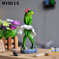 MYBLUE Kawaii Artificial Marilyn Monroe Frogs Resin Figurines Dolls Home Sculpture Decor Decorations Accessories Gifts Crafts