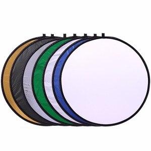 Image 5 - CY 20 50 سنتيمتر 7 في 1 العروة المحمولة للطي ضوء مستدير التصوير عاكس ل استوديو متعددة صور القرص أكياس مضغوطة