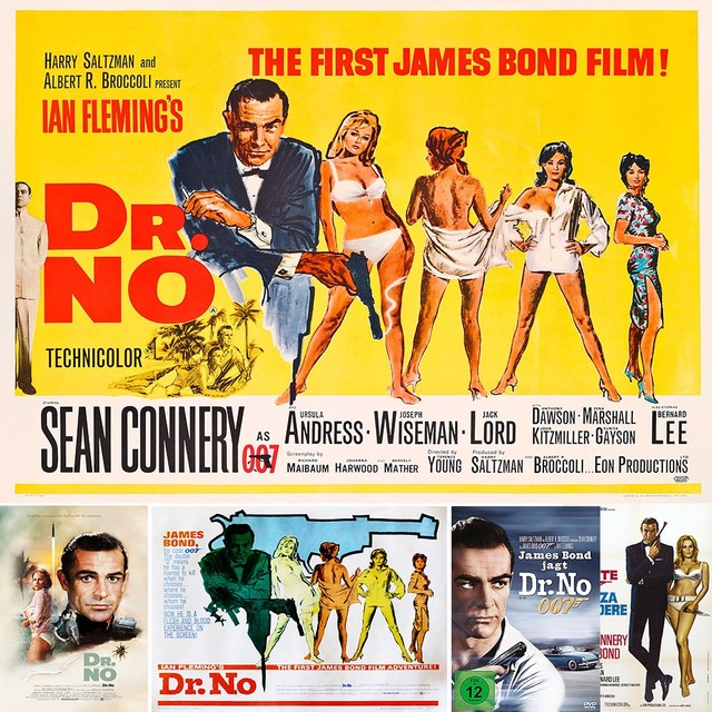 James Bond 007 Dr-No-movie-poster-for-007-Sean-Connery-retro-poster-movie-poster-Vintage-Retro-movie-Antique.jpg_640x640