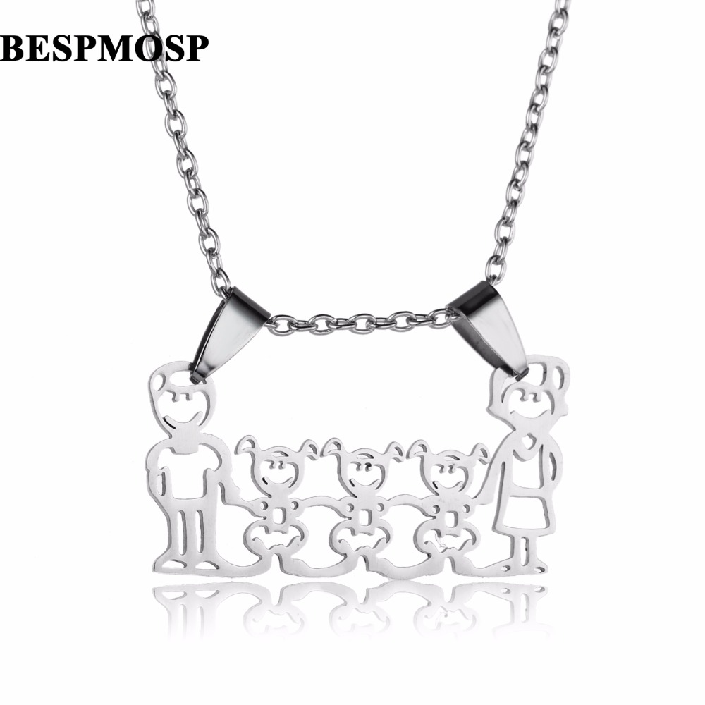 Family necklace gifts stainless steel three daughters parents family necklace gifts stainless steel three daughters parents children pendants mom dad necklaces mother father girls presents in pendant necklaces from aloadofball Gallery