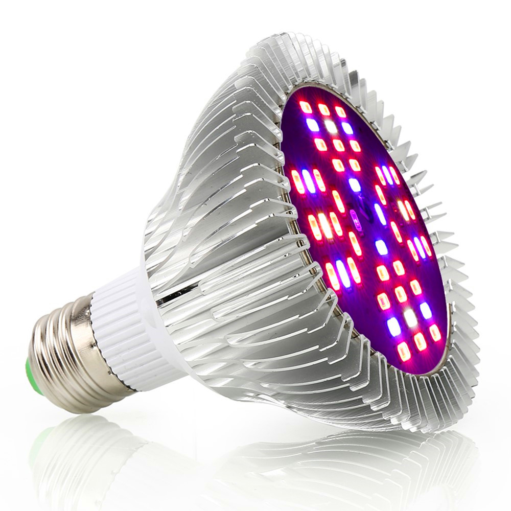 48LED Grow Light E27 AC85~265V Growing Light Bulbs for Indoor Greenhouse Hydroponics System Seeds Flowers Plants Vegetables