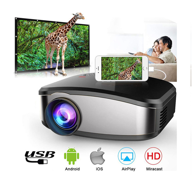 New Price Mini Projector Portable Mini LED Movie Video Projector Support 1080P with HDMI USB VGA AV interface Home theater 5.1 for Laptop