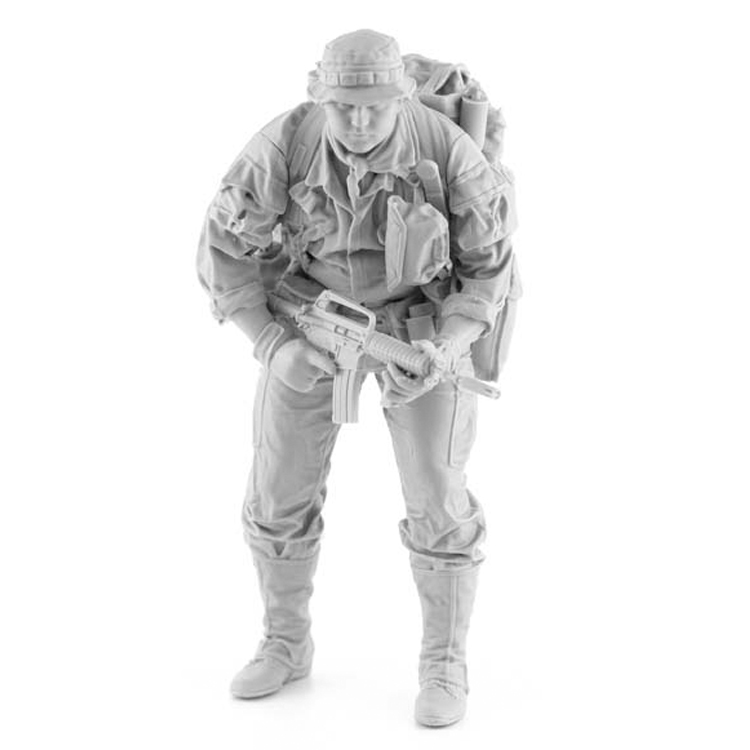 1/16 Resin Figure Model  Kit US Infantryman Vietnam War 1970  285G