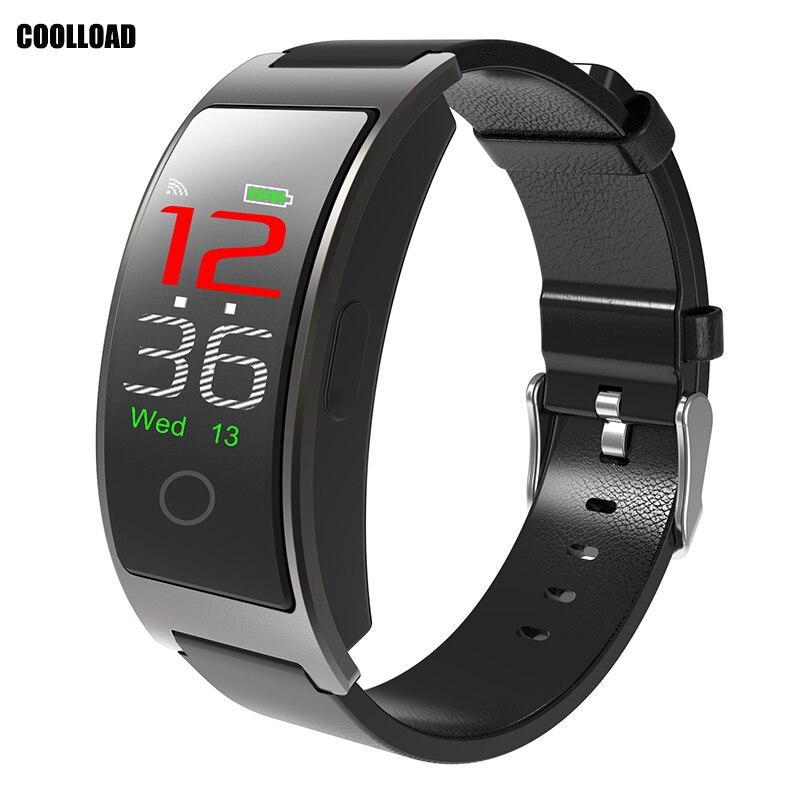 Coolload CK11C сердечного ритма Смарт часы с кровью Давление монитор Для мужчин Android Водонепроницаемый Фитнес Smartwatch для Androd IOS