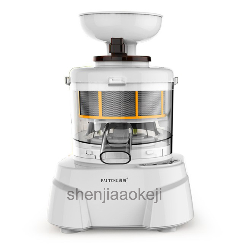 Multifunctional stone grinding soymilk machine Food processor meat grinder Grinding/ ground meat/ milling/ shred /sliced machine lucog multifunctional manual meat grinder mincer machine set food processor shred slice grinding paste handguards kitchen tools