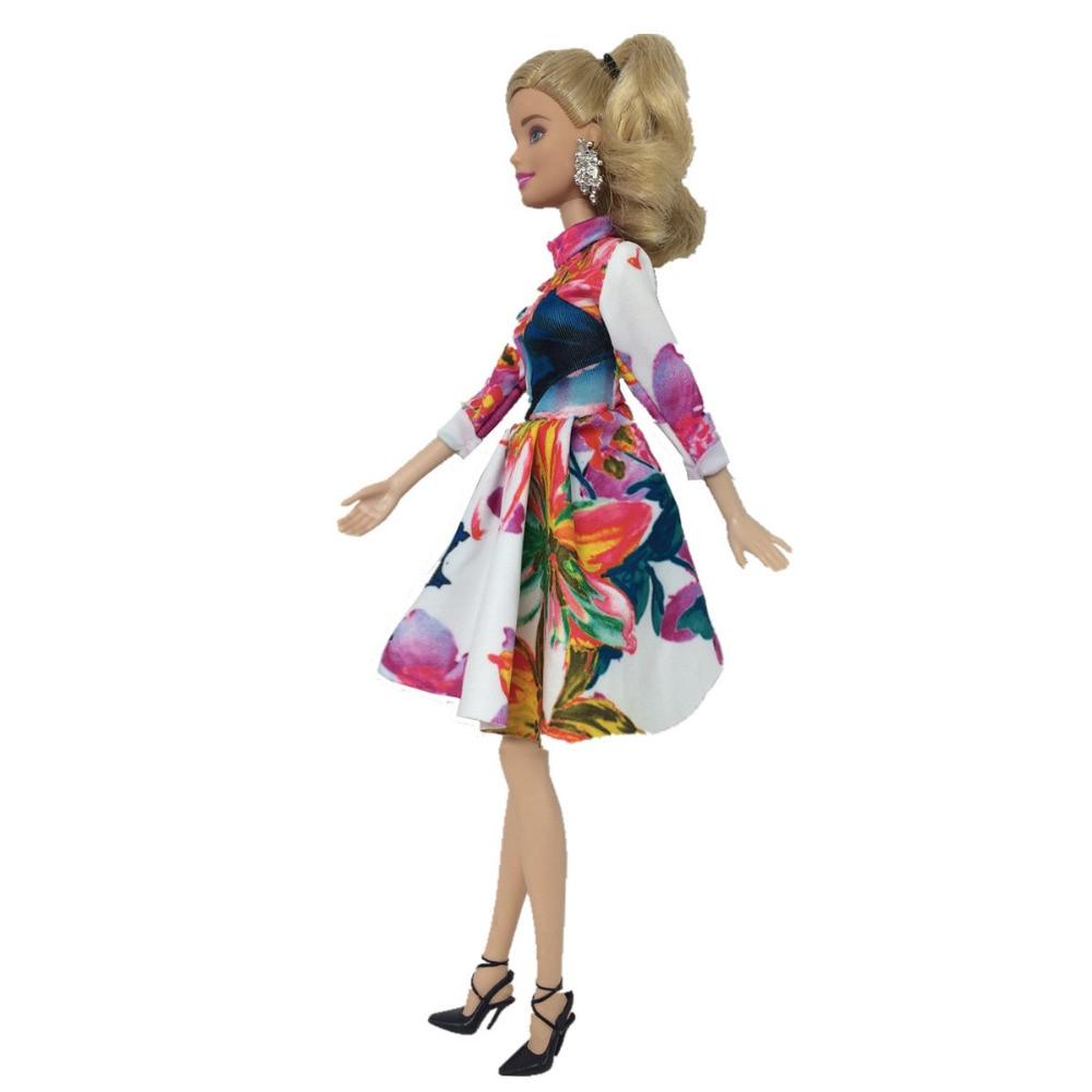 ab8805af6 NK 2 قطعة/المجموعة دمية فساتين جميلة اليدوية حزب ClothesTop أزياء اللباس ل  باربي نوبل دمية أفضل الطفل Girls