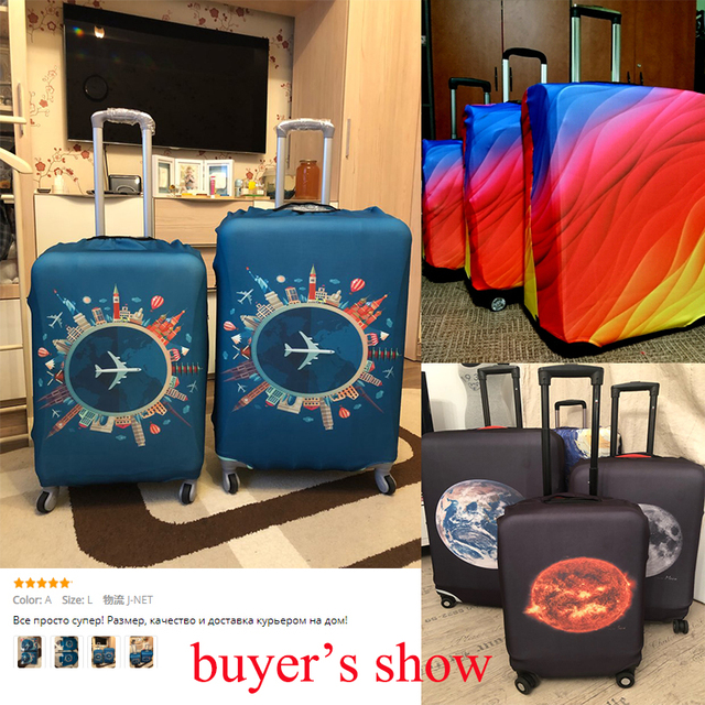 Thicker Travel Luggage Protective Cover Suitcase Case Travel Accessories Elastic Luggage Dust Cover Apply to 18''-32'' Suitcase 5