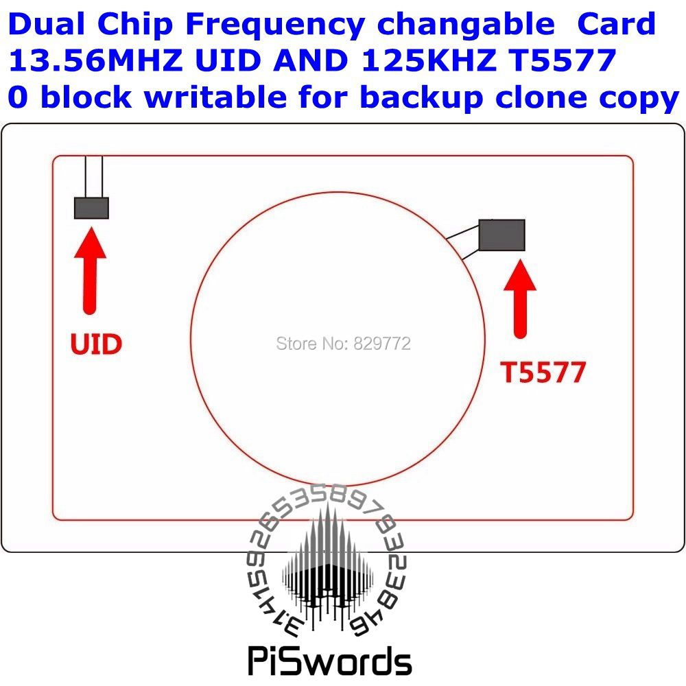 Dual Chip Frequency Rfid 1356mhz 1k Uid And T5577 125 Khz Id Blank Block Diagram Of A Tag Download Image 4 1000 First