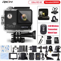 Action camera Ultra HD 4K 24fps gopro hero 4 stlye 16MP WiFi NTK96660 IMX078 170D Len Helmet Cam Waterproof 30m Sport Camera