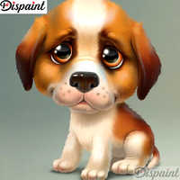 """Dispaint Full Square/Round Drill 5D DIY Diamond Painting """"Animal dog scenery"""" 3D Embroidery Cross Stitch 5D Home Decor A11198"""