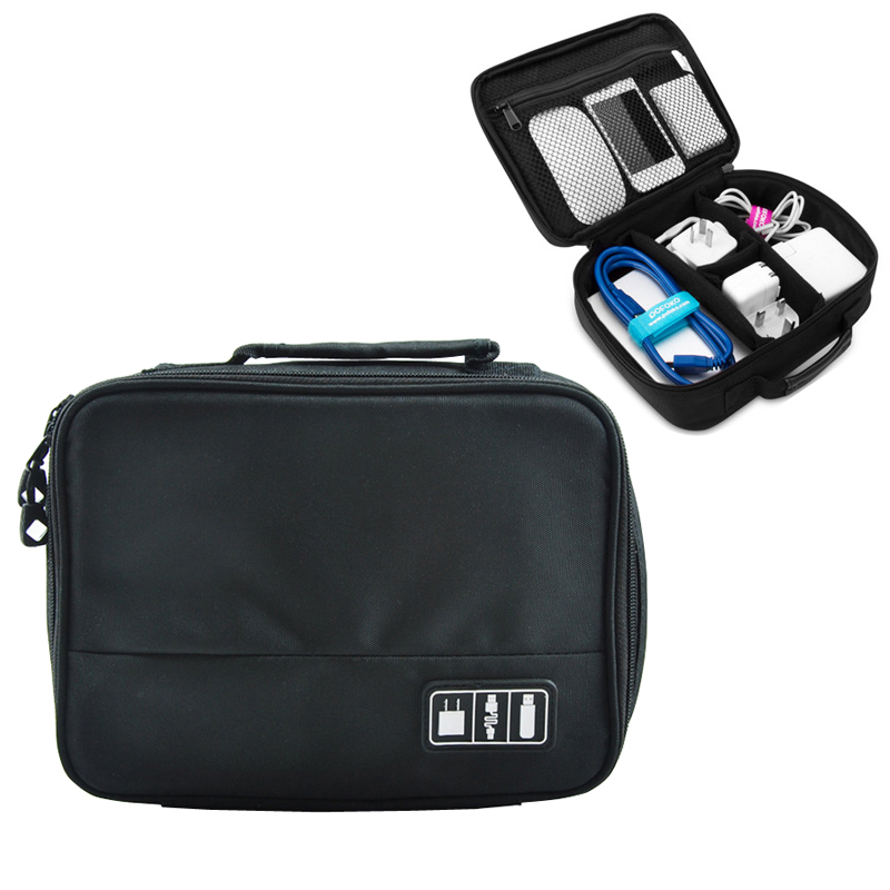 Universal Electronics Accessories Travel Organizers Bag For USB Cable,Charge Power, SD Cards,Game Cards,Hard Drive,Cosmetics