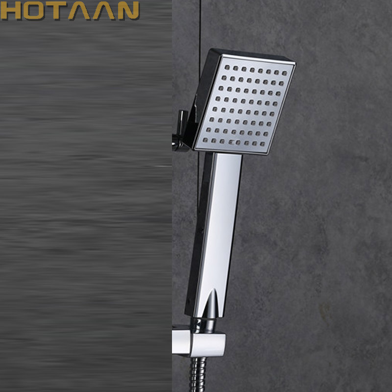 Free Shipping Pressurized Water Saving Shower Head ABS With Chrome Plated Bathroom Hand Shower Water Booster Showerhead YT5108-A
